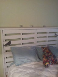 finished headboard