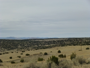 Rolling plains in Arizona between Show Low and Springerville